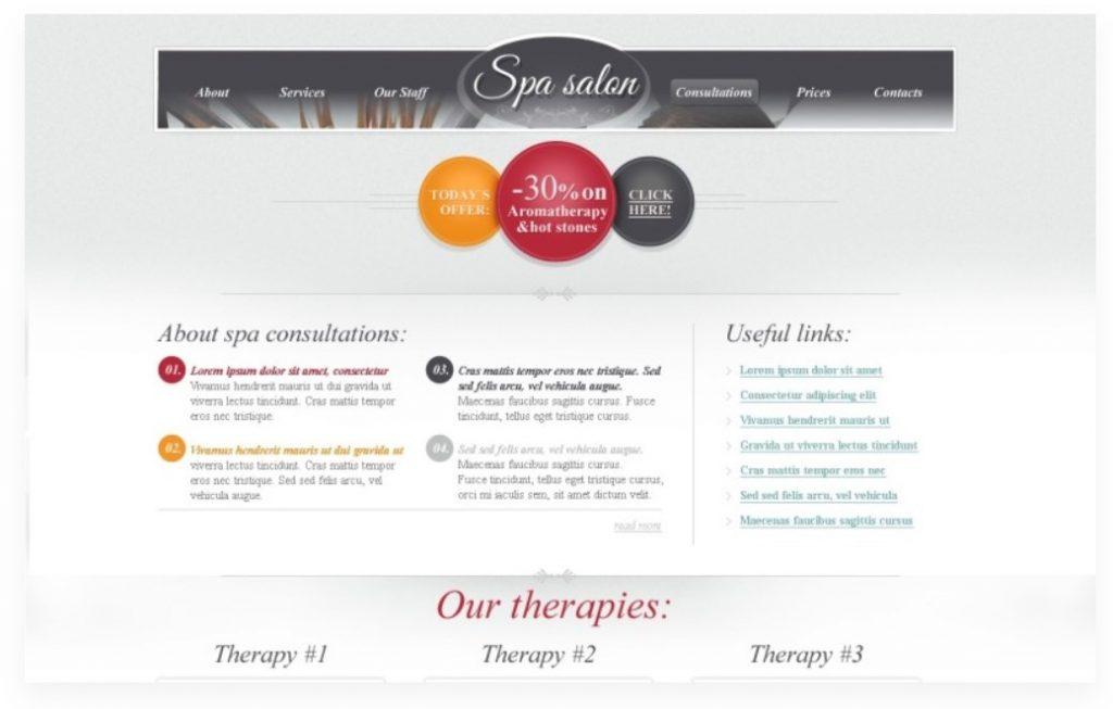 SPA Salon HTML5 gratuit