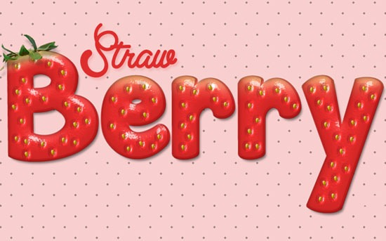 Strawberry text effect