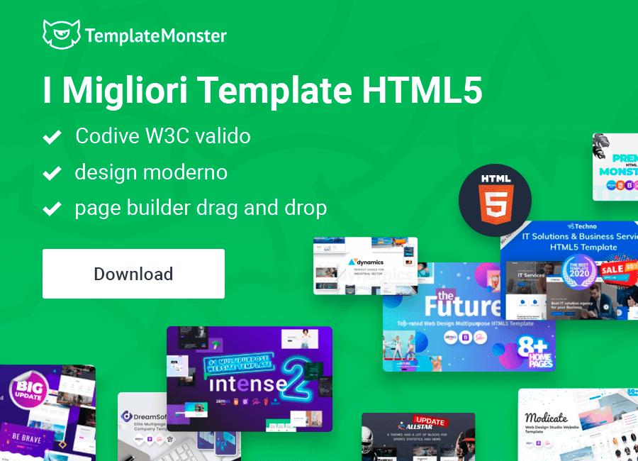 html5 template siti web
