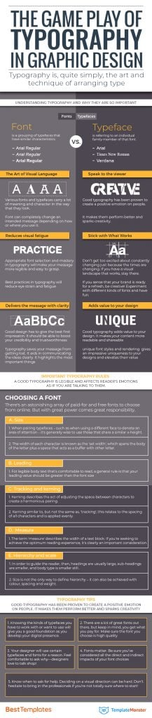 The Game Play of Typography in Graphic Design