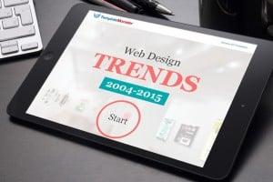 Infografika Web Design trendów – Na maszynie czasu przez lata 2004-2015