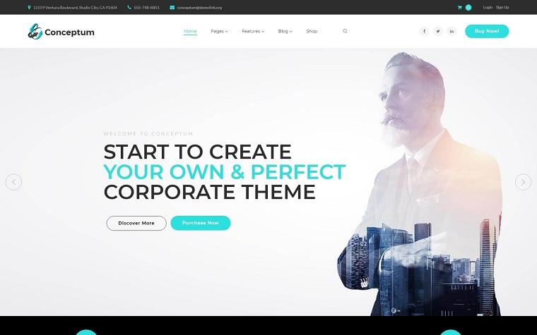 Conceptum - Corporate Responsive WordPress Theme.