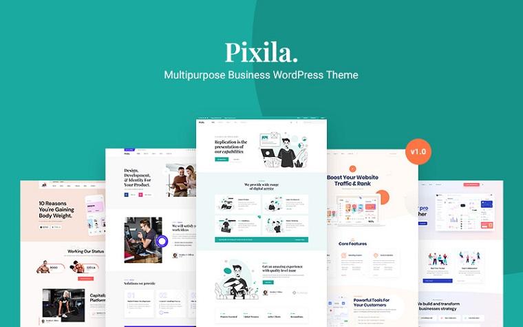 Pixila - uniwersalny biznesowy motyw WordPress.