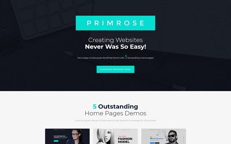 Primrose - uniwersalny motyw WordPress.