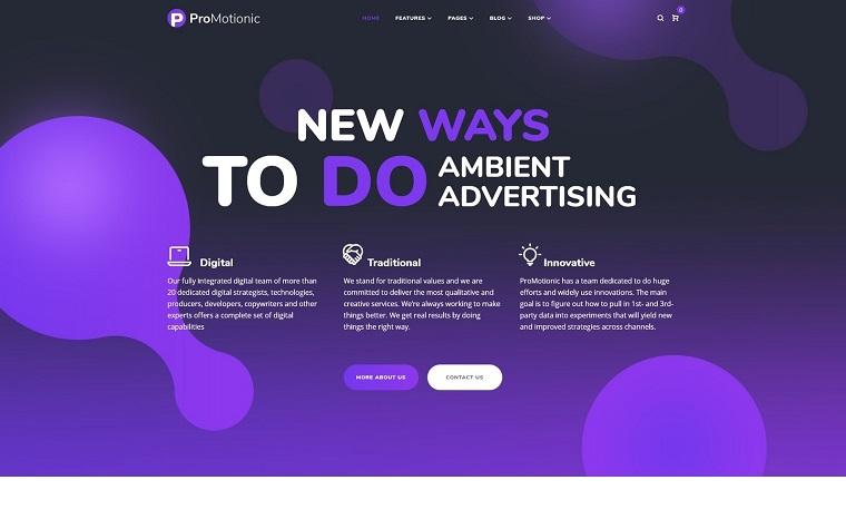 ProMotionic - motyw WordPress dla agencji promocyjnej.