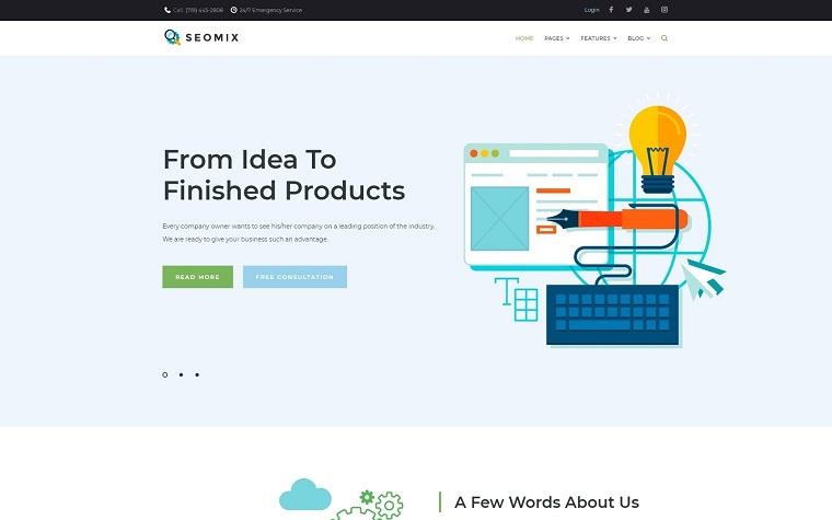 SEOmix - Motyw WordPress firmy SEO.