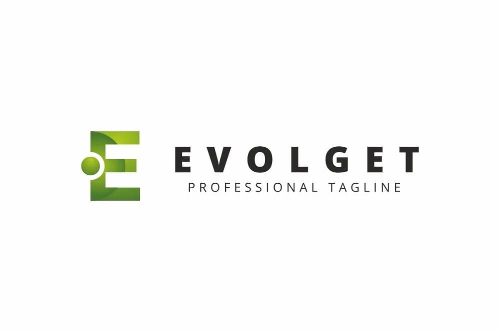 Evolget E Letter Logo Template.