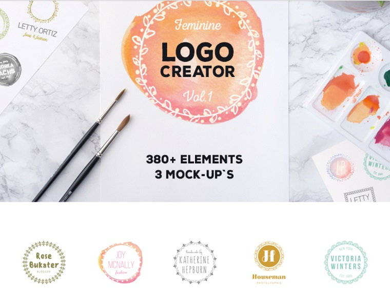 Logo Creator 380+ Elements.