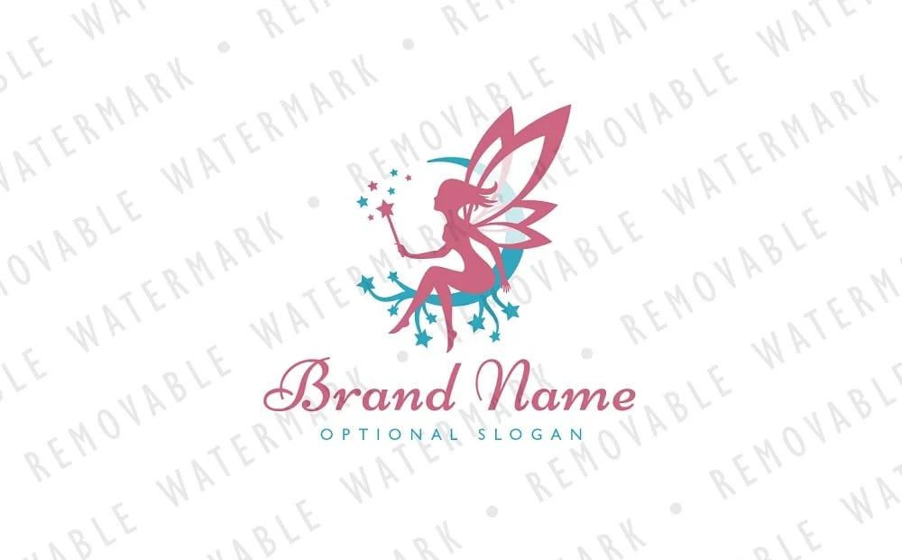 Magical Fairy Logo Template.