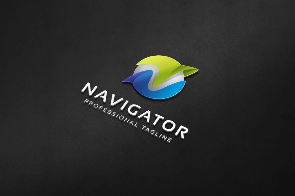 Navigator - N Letter Logo Template.