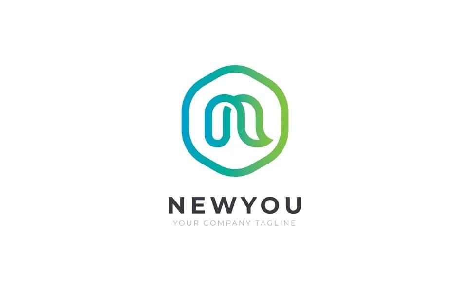 NEWYOU N Letter Logo Template.