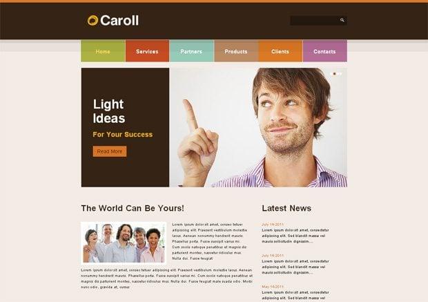 Caroll WordPress шаблон