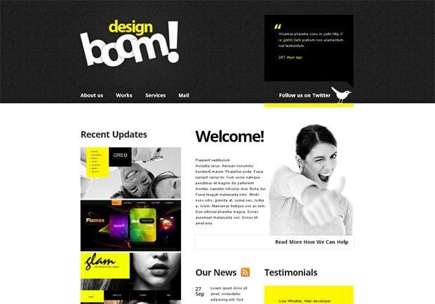 Design Boom WordPress шаблон