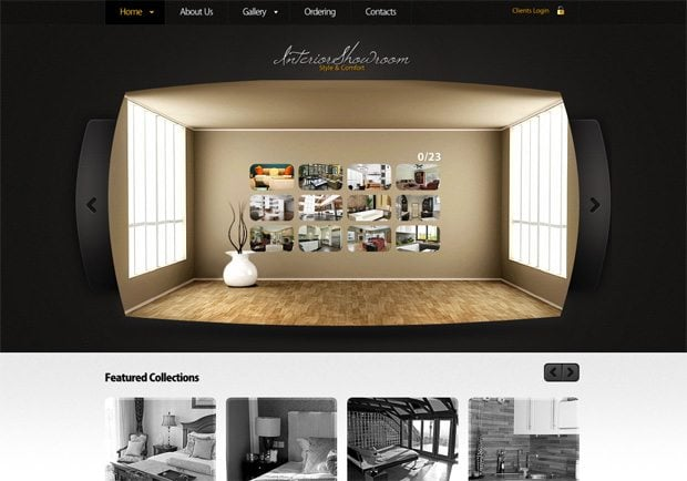 Interior Showroom WordPress шаблон