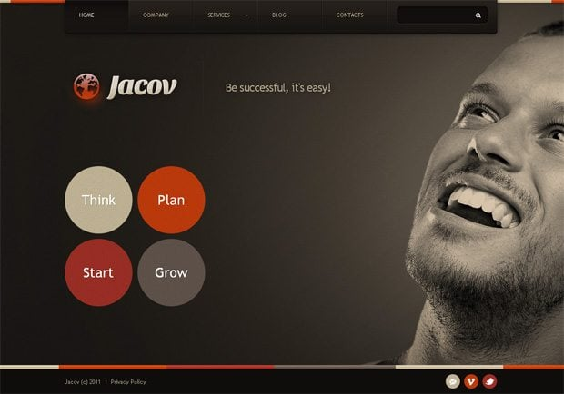Jacov WordPress шаблон