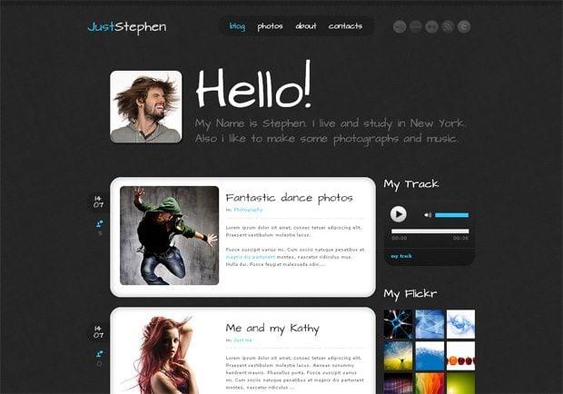 JustStephen WordPress шаблон