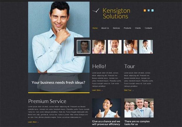 Kensigton Solutions WordPress шаблон