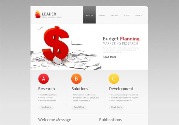 Leader WordPress шаблон