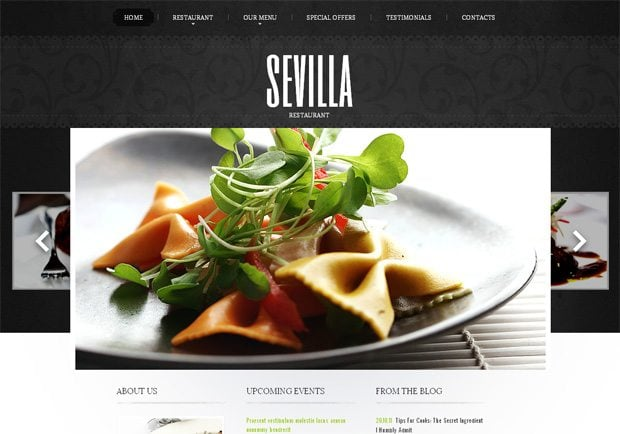 Sevilla WordPress шаблон
