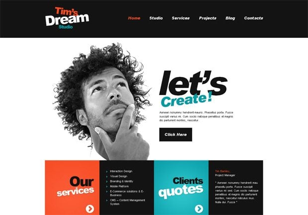 Tim's Dream Studio WordPress шаблон