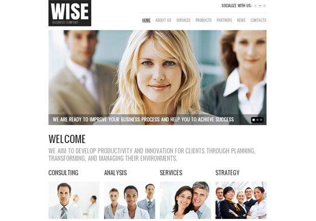 Wise WordPress шаблон