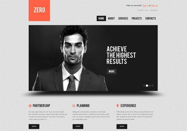 Zero WordPress шаблон