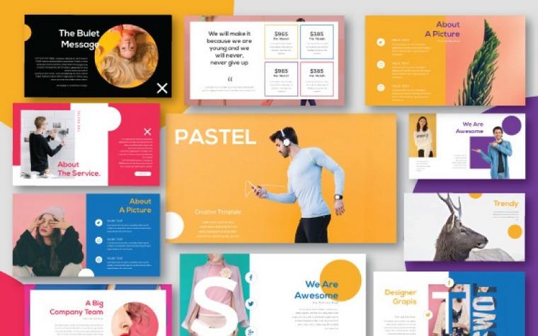Pastel Keynote шаблоны