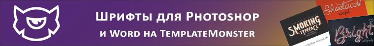 шрифты-templatemonster