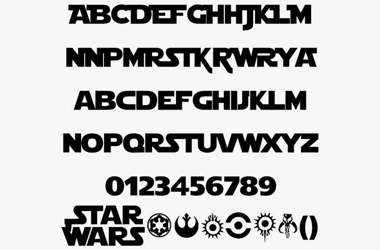 star-wars font