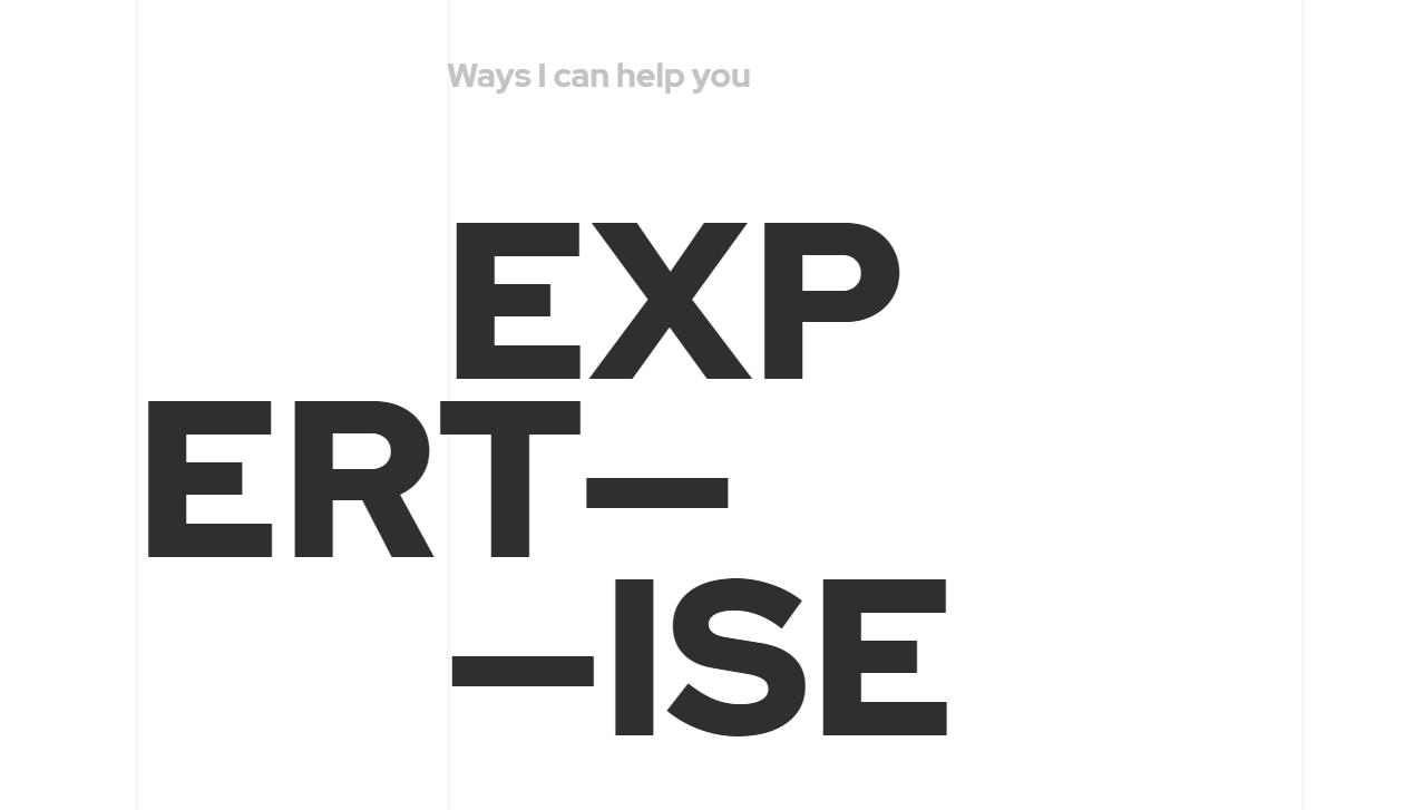 Пример крупной типографики в веб дизайне