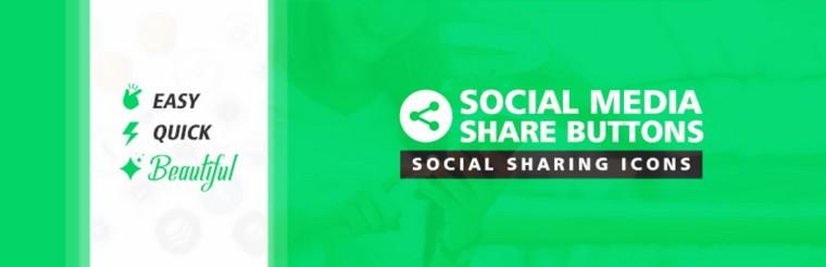 Social Media Share Buttons бесплатный виджет