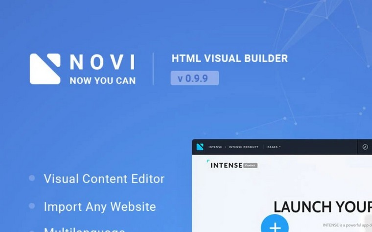 novi visual page builder