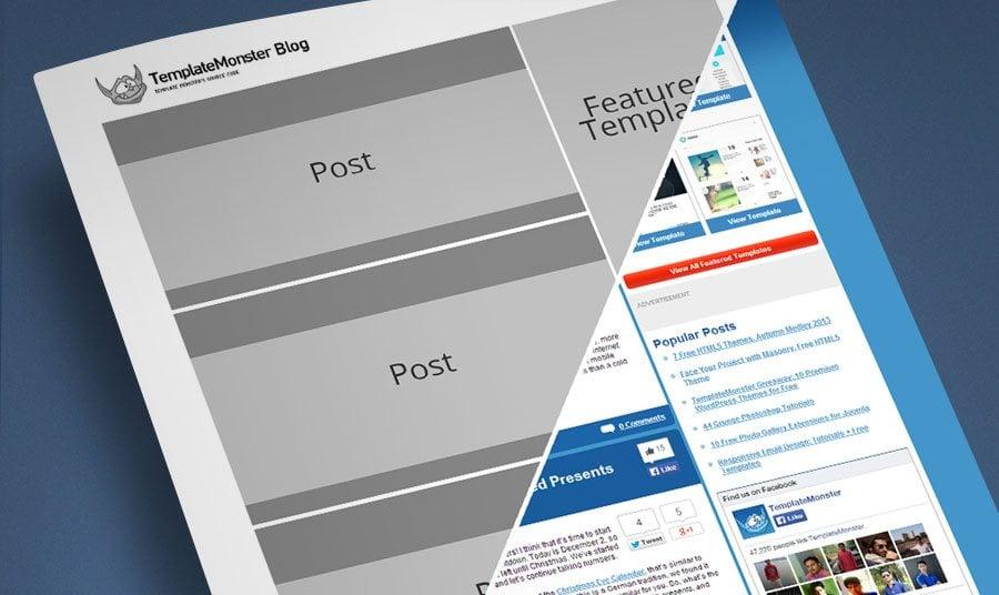 Photoshop için ücretsiz Wireframing Setleri