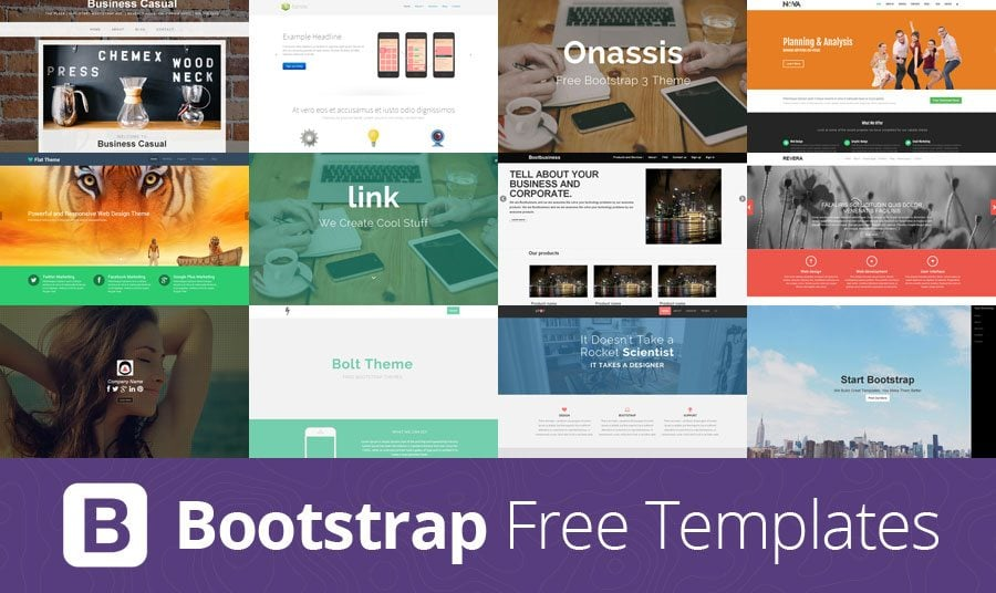 Web Etrafındaki Ücretsiz Bootstrap Şablonları
