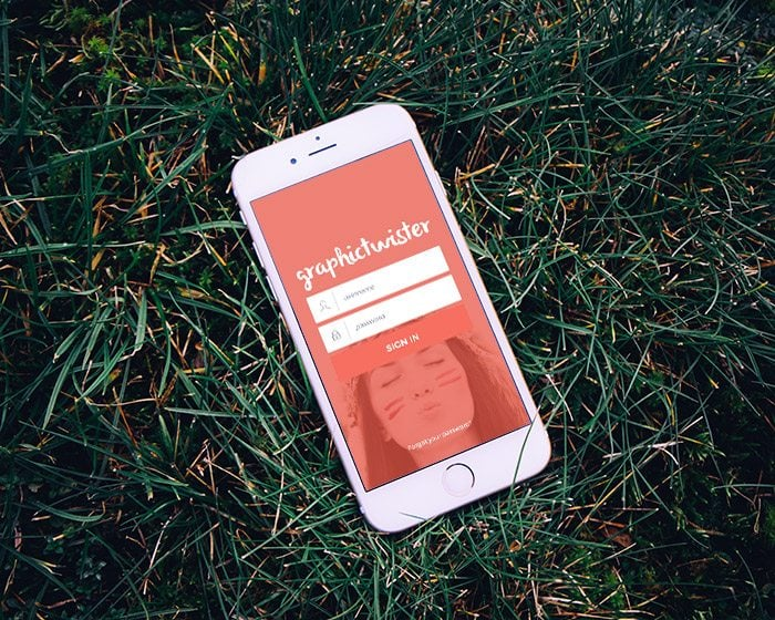 Gold-Iphone-6-MockUp-On-Grass
