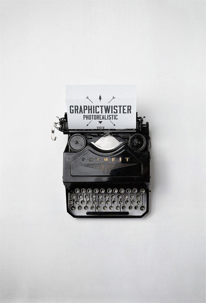 Typewriter-Mockup