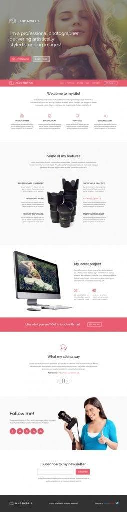 Fotoğrafçı Portföyü Ücretsiz WordPress Teması