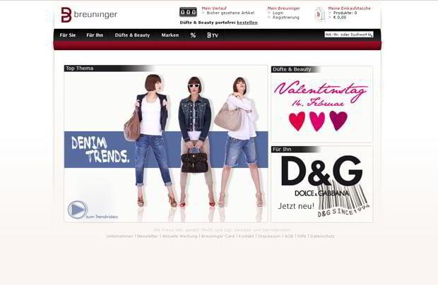 valentines custom web design – Breuninger.com