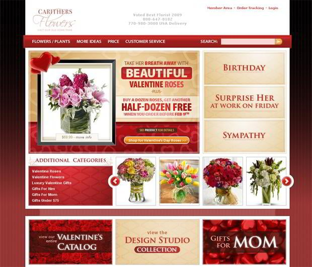 valentine website design – Carithers.com