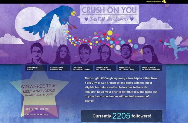 valentine custom web design – Crushlovely.com