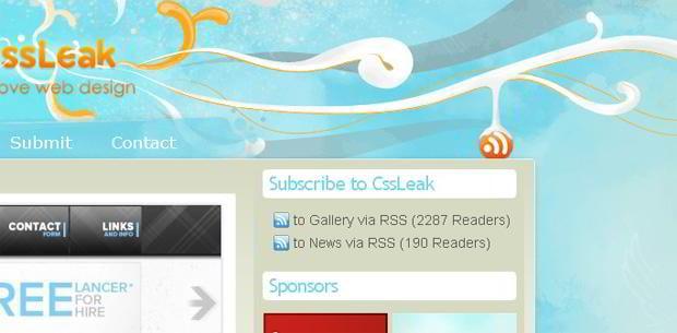 rich site summary icon web design – Cssleak.com