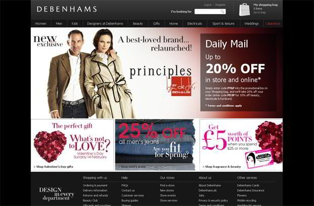 valentine custom design – Debenhams.com