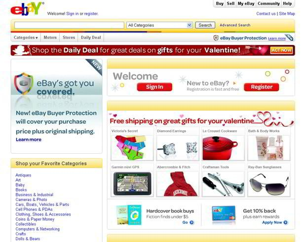 valentines custom web design – Ebay.com