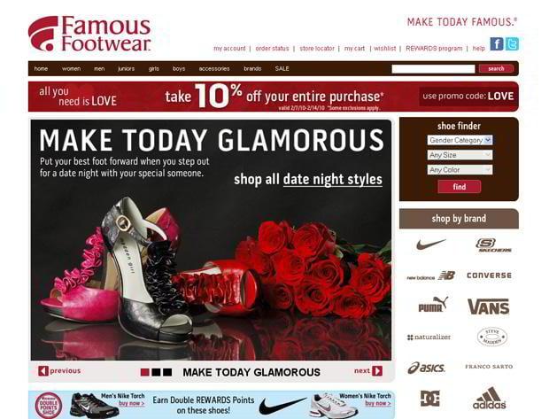 valentines custom web design – Famousfootwear.com