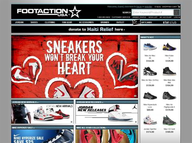 valentine web design – Footaction.com