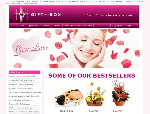 valentines website customization – Giftinabox.co.za