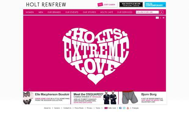 valentines custom web design – Holtrenfrew.com