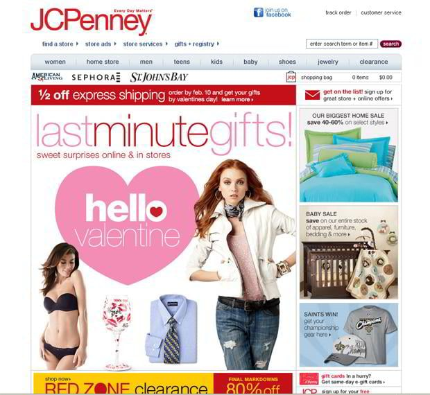 valentine website customization – Jcpenney.com