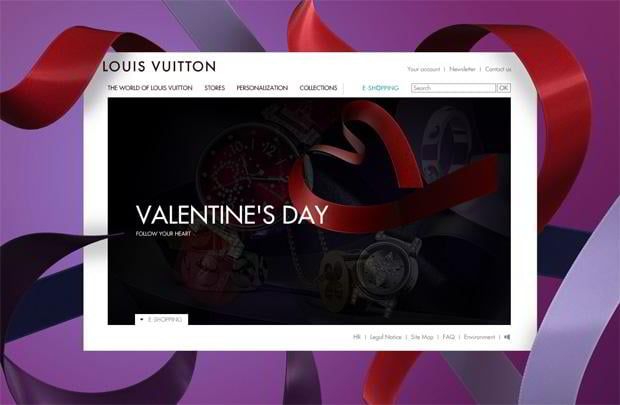 valentine website design – Louisvuitton.com