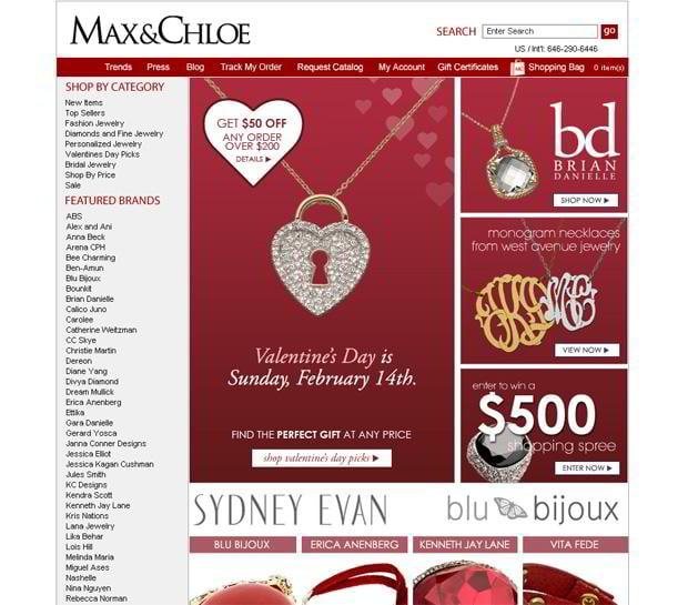 valentine custom web design – Maxandchloe.com